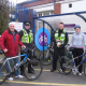 Mayor of Solihull, Cllr Ken Hawkins (left), gets his bike stamped at a free cycle surgery at Solihull Station - West Midlands cyclists