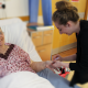 Students pamper patients at Warwick Hospital