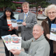Cllr Judith Rowley, Manjula Patel, health service manager, volunteer driver Chris Barratt