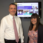 HR and purchasing director David Hoey and marketing and events co-ordinator Hayley Smith