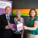 Dr Liam Fox MP with SSL Vice President Gill Hull and General Manager Jackie Simpson