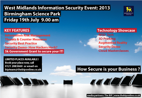 west mids information security event