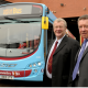 Centro Chairman Cllr John McNicholas and Peter Power, managing director of National Express