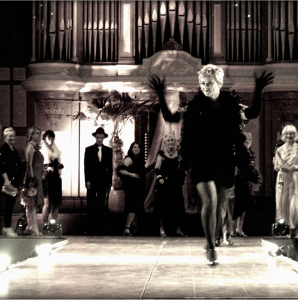 Jane Abbotts and the Barclays Bank models at last year's fundraiser. - Treading the Boards for KEMP Fashion Show...