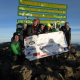 The Oakland team ready for the off and at the summit of Kilimanjaro in Africa