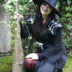The Witch of Wookey and her broomstick