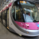 The CAF Urbos 3 tram is unveiled at the Midland Metro depot in Wednesbury