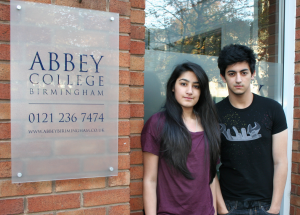 Aamer and Anneka Faraz. - Great Barr Brother and Sister Team Chosen to be Abbey College Birmingham's Student Voice...