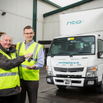 HTA Group's Mark Vale, right, - Jim Coton, of Midlands Truck & Van
