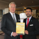 John Dowling, General Manager and Imran Ali of DoubleTree by Hilton