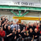 Bombardier workers celebrate the news