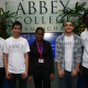 Abbey College Birmingham's Aaron Ballagan (2nd from left) and Yinka Oduwole (Centre)