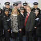 PICTURE CAPTION: The 12 Special Constables with Cllr Kath Hartley, left, vice-chair of Centro, Superintendent Gillian Murray of British Transport Police, and Crime Commissioner Bob Jones.