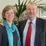 Shadow Transport Minister Lilian Greenwood MP with Centro chairman Cllr John McNicholas