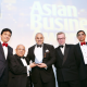 Asian Business Awards 2014 (L to R Vijay Patel, Mr Solanki, Dr Nanda, Michael Gove MP, Bhikhu Patel)