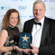 Jackie Hendley (Partner and Head of Tax in Birmingham, Smith Cooper) with John Massey of reigning Midlands Family Business of the Year Belton Massey