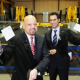 Salinder Singh, Owner, Glass Express Midlands (left), Sukh Nat, Relationship Director, Santander Corporate & Commercial (right)