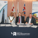 (left to right) Mayor of Wolverhampton, Councillor Milkinder Jaspal, Vice-Chancellor of the University of Wolverhampton, Professor Geoff Layer and Andy Walder, CITB