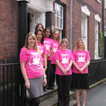 L-R: Supporting KEMP Hospice's Midnight Walk from Painters Solicitors, Kate Watkiss, Rachel McGrath, Gill Guest, Lakhvir Bassi, Liz Wright, Sharon Jones and Louise Adams.