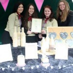 Winners of the Best Sales and Marketing accolade at the trade fair held at Webbs , Naomi Quorrall, Devon Winnall, Naomi Ralph and Rebecca Laight