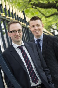 left to right Gareth Prince and Mark Malone