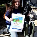 KEMP Hospice fundraiser, Sophie Bishop and her dog Bo, eager to get going!