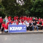 L-R: Lens on Line staff supporting KEMP Hospice.
