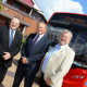Cllr Darren Cooper of Sandwell Council, left, Peter Coates of NXWM and Cllr John McNicholas at the unveiling of the new buses.
