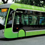 A Sprint-style bus rapid-transit vehicle on the streets of Metz in France.