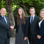 (left to right) (Head of Office) Tim Davies, Francesca Skinner, Tom Watkins and Abbey Bennett.
