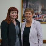 Left to right, Abbey College Birmingham Marketing Officer, Emma Bottomley and Labour MP, Rt. Hon Gisela Stuart