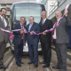 (left to right) Antonio Campos, Western Area Director for CAF, Albert Bore, Leader of Birmingham City Council, Cllr Darren Cooper, Leader of Sandwell Council, Geoff Inskip, Centro Chief Executive and Cllr John McNicholas, Chairman of Centro launch the new trams at Snow Hill Station in Birmingham