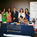 Left to right, Betty Ho, Rita Sarna, Farzana Pervez, Abbey College Birmingham Principal Stephen Robinson, Shelagh Pape & Natasha Verma