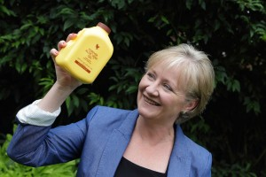 Fiona Ives with yellow bottle