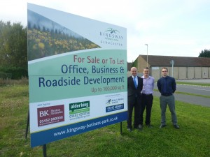 L to R  Robert Smith from Bruton Knowles, John Hawkins from Alder King and David Aubrey from Robert Hitchins at Kingsway Business Park.