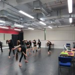 BTEC Dance students allow curious visitors a glimpse at their rehearsal process