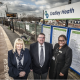 Toni Tipper, National Express West Midlands area manager for West Bromwich and Pensnett, Cllr Roger Horton and Brenda Lawrence of London Midland.