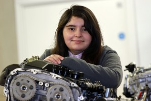 First year mechanical engineering student Zara Talat, who is one of the recipients of the Ada Lovelace scholarship at Coventry University.