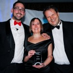 L-R: Colin Murray, Rachel McMullen, John Cockerton from Towers Watson (category sponsors)