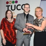 James Tudor recieves his award for Chef of the Year