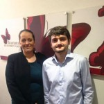 Assistant Accountant Thomas Dent with senior recruitment consultant Vikki Cave of Brampton Recruitment