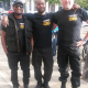 Abdul and two members of his team