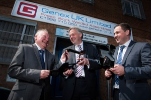 Left to right: Stewart Beese, Genex. Steve Hetherington, Finance Birmingham. Michael Beese, Genex.