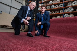 (Image L-R: Steve Day, Managing Director at Contract Flooring Solutions; Ian Fairclough, Investment Director at Finance Birmingham)