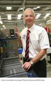 A force in renewables: Tony Hague (PP Electrical Systems and MAN Group)