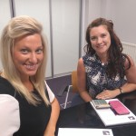 Kate Campbell (left) with Kerry Sheerman, accountancy and finance manager at Alexander Daniels.