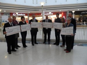 intuPotteries: last year's charity cheque presentation