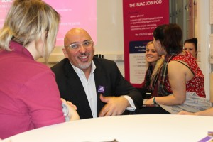 Stratford MP Nadhim Zahawi visiting the College's Engineering Apprentices in March this year