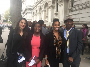 Pictured (left to right) are Leila Green, Staffordshire Chambers of Commerce Business Mentor Support BME, Charmaine Cameron-Reale, Charmaine Baines and Derrick Wallace.