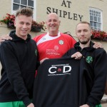 Fundraisers: (l-r) Chris Collins, Neil Taylor (Fox at Shipley) and Tim Griffith